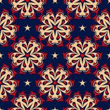 Floral seamless pattern. Colored red and blue background. For wallpapers, textile and fabrics Royalty Free Stock Image