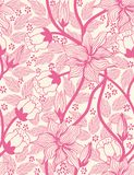 Floral seamless pattern. Colorful background wallpaper illustration with vintage summer flowers leaves and ornaments. Vector textu Stock Photo