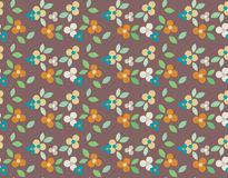 Floral seamless pattern with colorful flowers Stock Photo