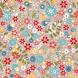 Floral seamless pattern with colorful flowers texture Royalty Free Stock Photography