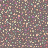 Floral seamless pattern with colorful flowers texture Stock Photos