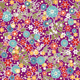 Floral seamless pattern with colorful flowers texture Royalty Free Stock Photo
