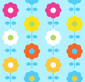 Spring flower seamless pattern - blue and colorful Royalty Free Stock Photography