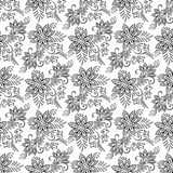 Floral seamless pattern. Coloring book pages vector illustration Royalty Free Stock Photography
