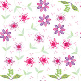 Floral seamless pattern with cute abstract  flower Royalty Free Stock Photo