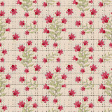 Floral seamless pattern , cute cartoon flowers beige background Stock Photo