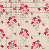 Floral seamless pattern , cute cartoon flowers  beige background. Royalty Free Stock Images