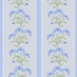 Floral seamless pattern  cute cartoon flowers grey background Stock Photo