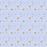 Floral seamless pattern , cute cartoon flowers light blue background Royalty Free Stock Photography