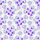 Floral seamless pattern , cute cartoon flowers white background Stock Photo