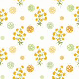 Floral seamless pattern , cute cartoon  flowers white background Royalty Free Stock Photography