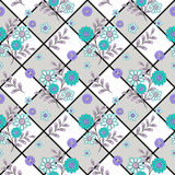 Floral seamless pattern , cute cartoon flowers white background Royalty Free Stock Images