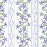 Floral seamless pattern , cute cartoon  flowers white background. Royalty Free Stock Photos