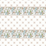 Floral seamless pattern , cute cartoon  flowers white background. Stock Photography