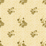 Floral seamless pattern, cute cartoon  flowes beige  background Stock Images