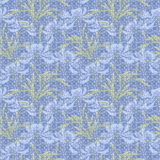 Floral seamless pattern, cute cartoonlight blue flowers light  background Royalty Free Stock Images