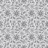 Floral seamless pattern. Cute doodle flowers seamless pattern Royalty Free Stock Photography