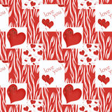 Floral seamless pattern , cute flowers,heart   background . Royalty Free Stock Photos