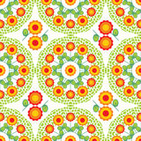 Floral seamless pattern. Cute flowers seamless pattern on white background Royalty Free Stock Photo