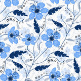 Floral seamless pattern , cute flowers white background Royalty Free Stock Photos