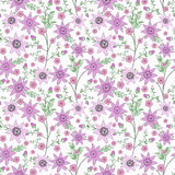 Floral seamless pattern , cute flowers white background Royalty Free Stock Photo