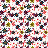 Floral seamless pattern , cute flowers white background Royalty Free Stock Image