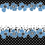 Floral seamless pattern with cute kids flowers background Royalty Free Stock Photo