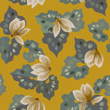 Floral seamless pattern  with cyclamen flowers Stock Image