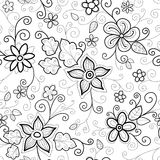 Floral seamless pattern dashed Stock Photography
