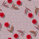 Floral seamless pattern - decorative bloom on rendered textile texture - digital collage Royalty Free Stock Photos