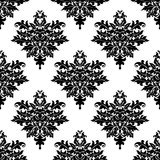 Floral seamless pattern with decorative elements Royalty Free Stock Image