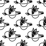 Floral seamless pattern with decorative ornate Royalty Free Stock Photography