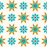 Floral seamless pattern, decorative vector wallpaper. Stock Image