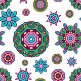 Floral seamless pattern, decorative vector wallpaper. Royalty Free Stock Photography