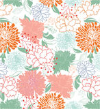 Floral seamless pattern,  design Royalty Free Stock Photo