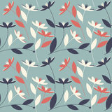 Floral seamless pattern with elegant flowers vector illustration