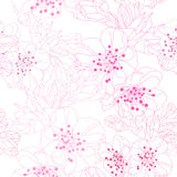 Floral seamless pattern. Elegant seamless pattern with hand drawn decorative cherry blossom flowers, design elements. Floral pattern for wedding invitations royalty free illustration