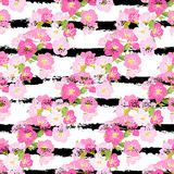 Floral seamless pattern. Elegant seamless pattern with hand drawn decorative cherry blossom flowers, design elements. Floral pattern for wedding invitations vector illustration