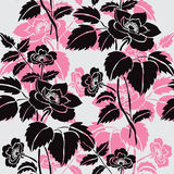 Floral seamless pattern. Elegant seamless pattern with hand drawn decorative dog rose flowers, design elements. Floral pattern for wedding invitations, greeting Royalty Free Stock Photography