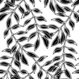 Floral seamless pattern with elegant natual composition, leaves silhouette. Texture for wallpapers, fabric, wrap, web page. Backgrounds, vector illustration stock illustration