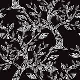 Floral seamless pattern. Elegant seamless pattern with hand drawn decorative trees, design elements. Floral pattern for wedding invitations, greeting cards Stock Photos