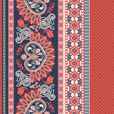 Floral seamless pattern. Ethnic border ornament. Egyptian, Greek, Roman style. Can be used for greeting business card background, coloring book, backdrop Royalty Free Stock Photo
