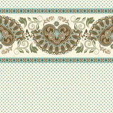 Floral seamless pattern. Ethnic border ornament. Egyptian, Greek, Roman style. Can be used for greeting business card background, coloring book, backdrop Stock Photos