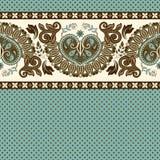 Floral seamless pattern. Ethnic border ornament. Egyptian, Greek, Roman style Royalty Free Stock Photo