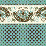Floral seamless pattern. Ethnic border ornament. Egyptian, Greek, Roman style. Can be used for greeting business card background, coloring book, backdrop Royalty Free Stock Images