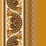 Floral seamless pattern. Ethnic border ornament. Egyptian, Greek, Roman style. Can be used for greeting business card background, coloring book, backdrop Royalty Free Stock Photos