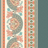 Floral seamless pattern. Ethnic border ornament. Egyptian, Greek, Roman style. Can be used for greeting business card background, coloring book, backdrop Stock Photo