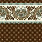 Floral seamless pattern. Ethnic border ornament. Egyptian, Greek, Roman style. Can be used for greeting business card background, coloring book, backdrop Stock Images