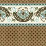 Floral seamless pattern. Ethnic border ornament. Egyptian, Greek, Roman style. Can be used for greeting business card background, coloring book, backdrop Stock Image
