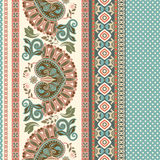 Floral seamless pattern. Ethnic border ornament. Egyptian, Greek, Roman style. Can be used for greeting business card background, coloring book, backdrop Stock Photography